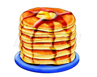 Oatmeal clipart stack pancake Breakfast 50% Digital Clipart Illustration