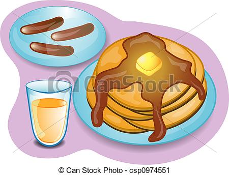 Pancake clipart pancake sausage Complete of complete csp0974551 of