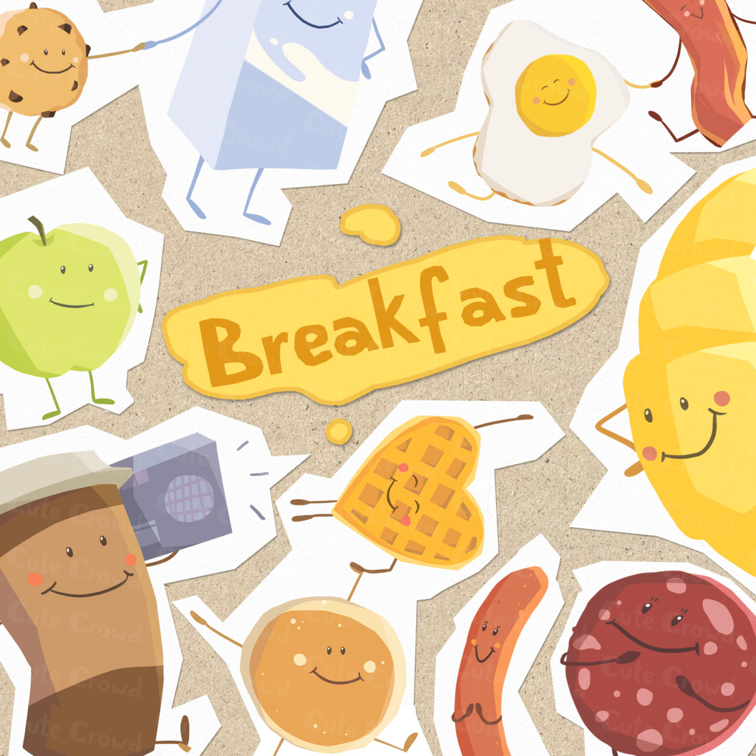 Waffle clipart pile Images Pancake Free (6060) Clipartwork
