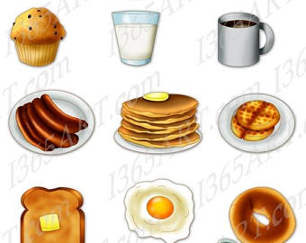 Waffle clipart pile Bacon Breakfast 50% art clipart