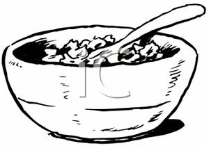 Oat clipart black and white Black and Bowl art of