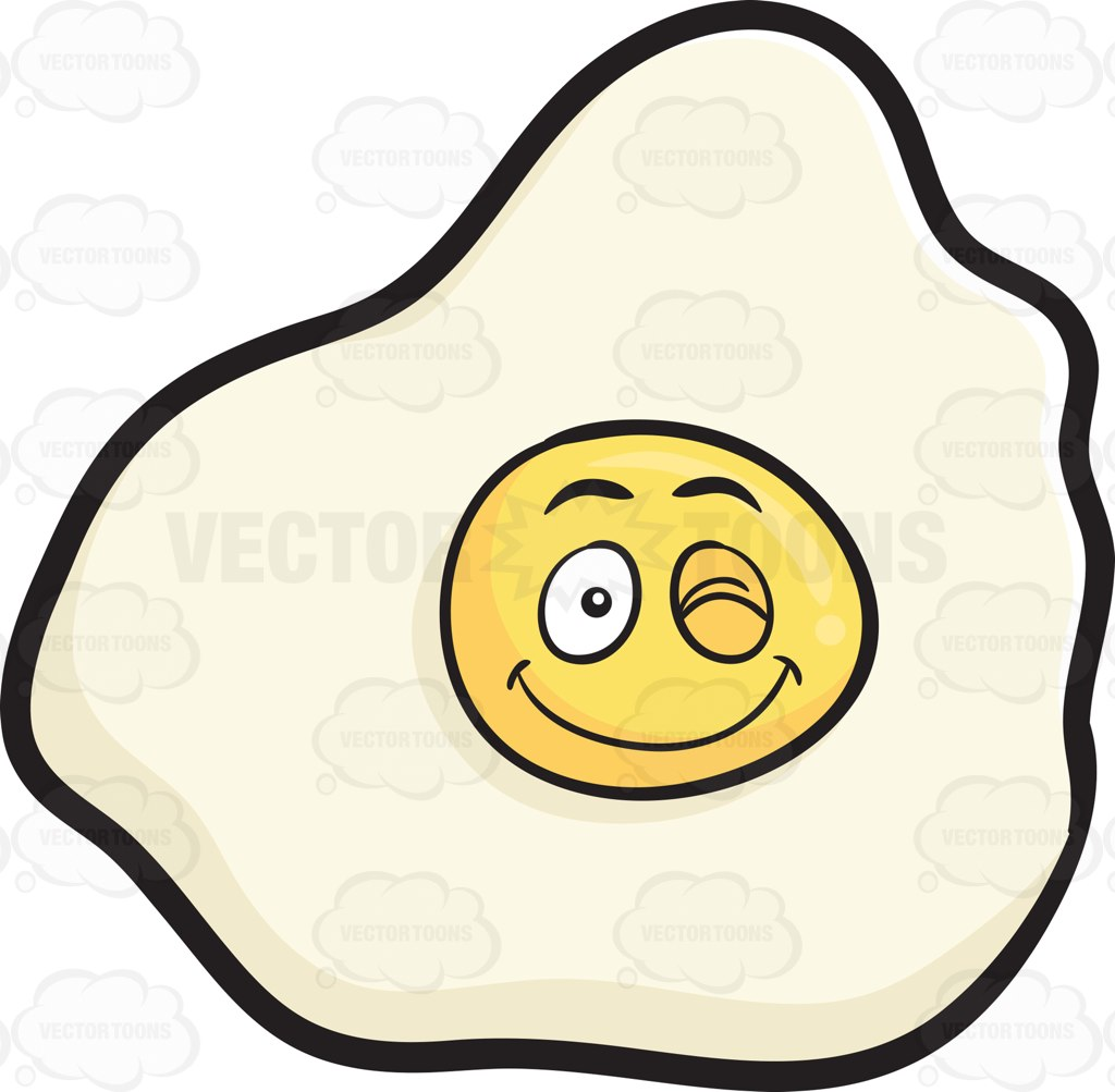 Breakfast clipart smiley And Clipart Up Cartoon Egg