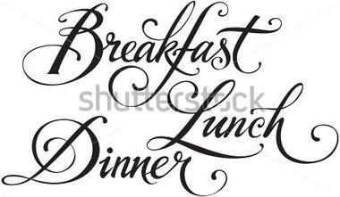 Word clipart dinner Breakfast (10+) Clipart Word breakfast