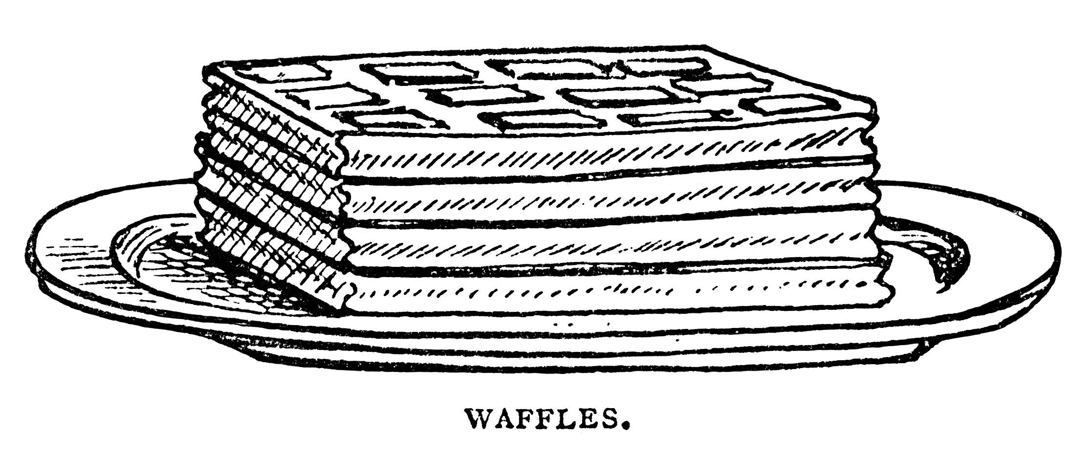 Waffle clipart frozen Black Breakfast White Clipart Black