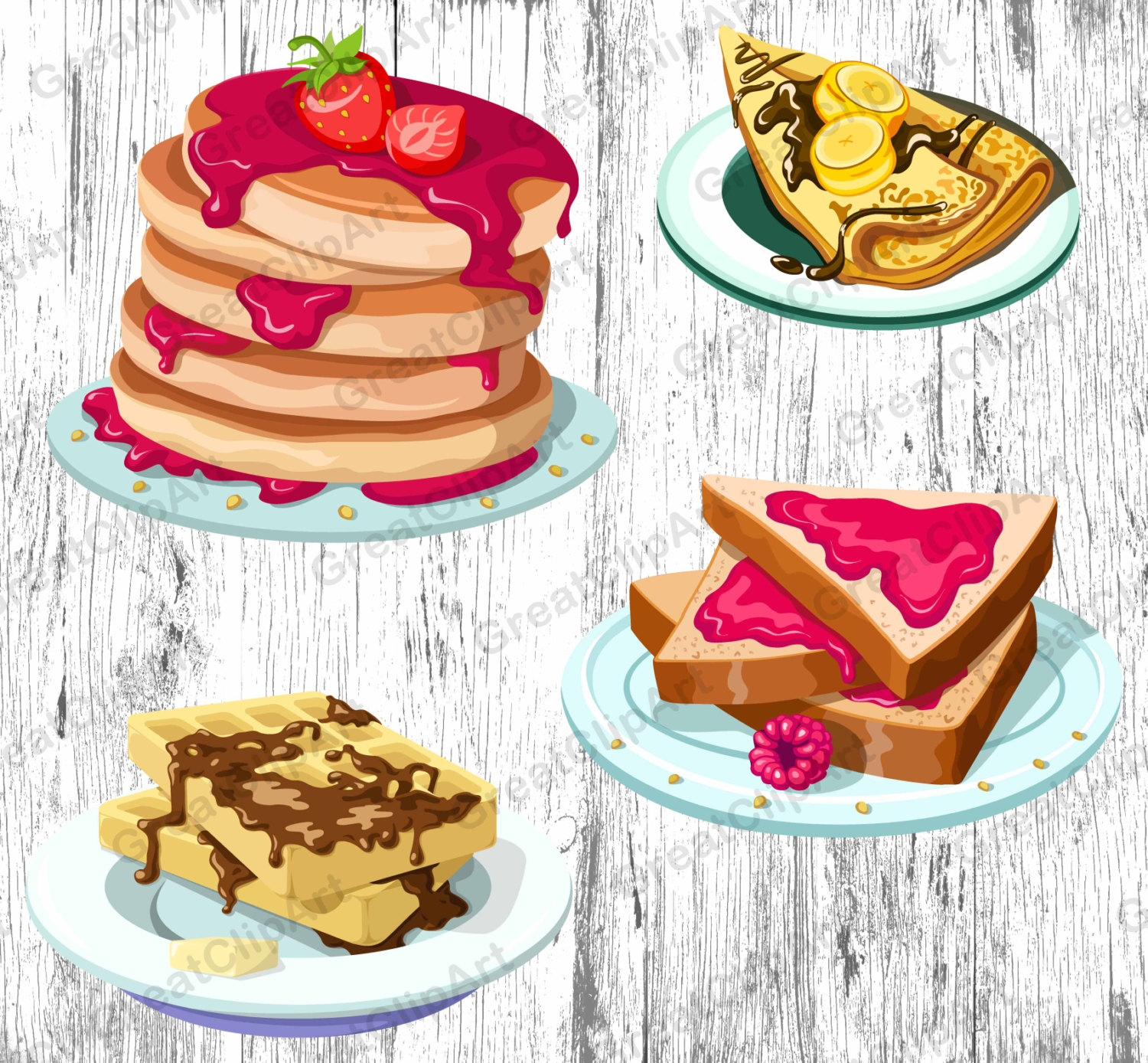 Cereal clipart breakfast plate Food syrup waffles Breakfast pancakes
