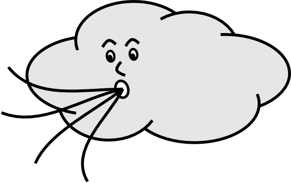 Clouds clipart blizzard And Panda Images Wind Clipart