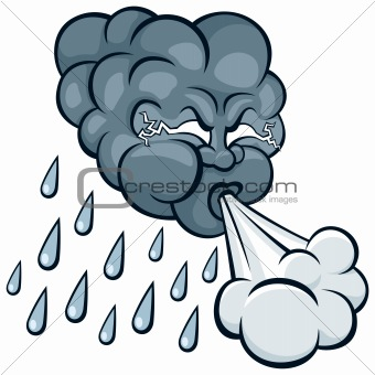 Thunderstorm clipart angry cloud Clip and Download and Wind