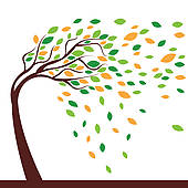 Tree clipart wind blowing #5