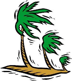Tree clipart wind blowing #8