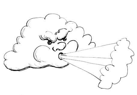 Drawn wind Depicting EMG  Wind Zine