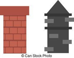 Brick clipart brick chimney Vector chimney brick smoke top