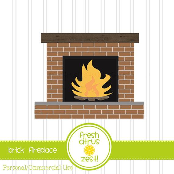 Brick clipart brick fireplace Art FreshCitrusZest Brick on Fireplace