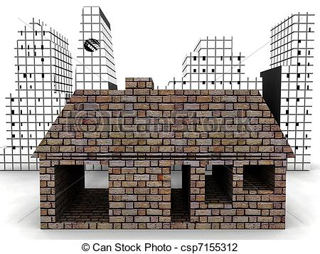Brick clipart brick chimney House a csp7155312 Art Clip