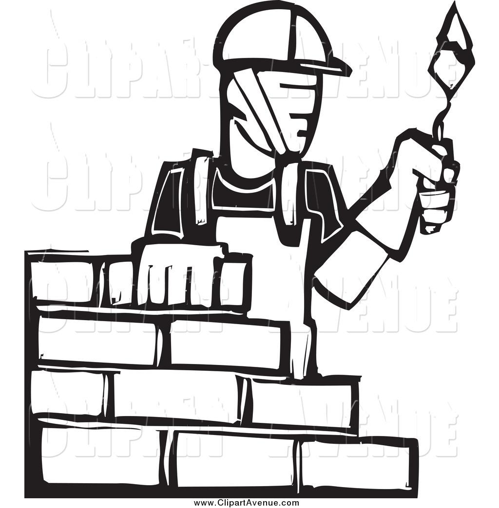 Brick clipart brick mason And Mason Black White Bricks
