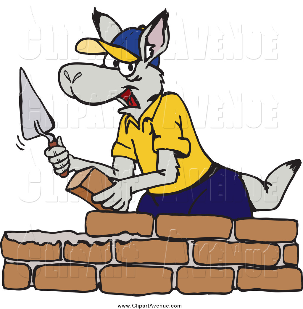 Brick clipart brick mason Of Mason Kangaroo Layer Stock
