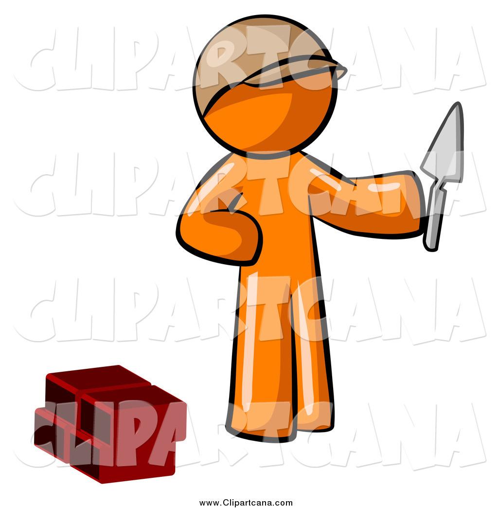 Brick clipart brick mason Holding a Clip Clip Mason