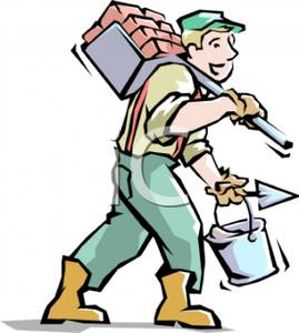 Brick clipart brick chimney Mud of Carrying a and