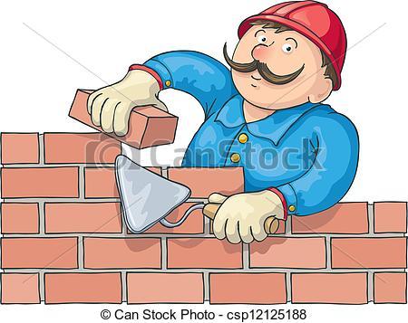 Brick clipart pyramid Builds Illustrations Bricklayer  Work