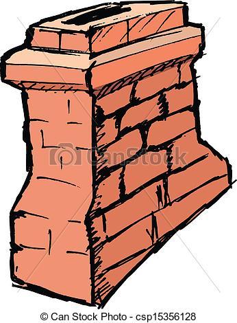 Brick clipart drawn  drawn hand vector chimney