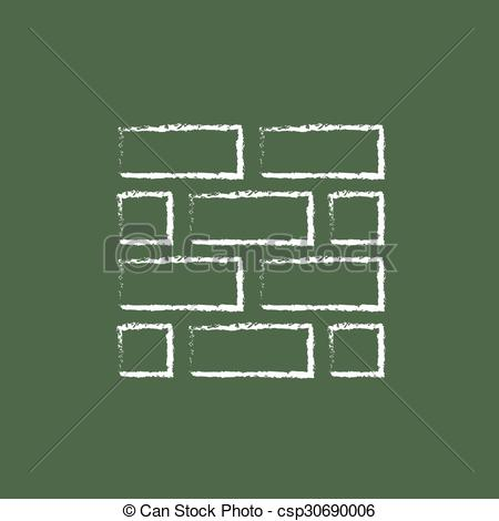 Brick clipart drawn Icon chalk Clipart Vector drawn