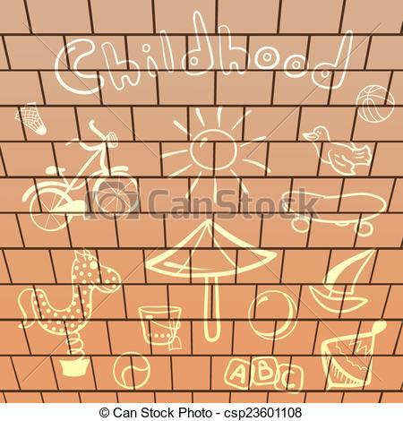 Brick clipart drawn Drawings Vector drawn wall brick