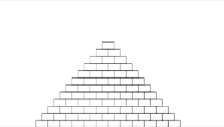 Brick clipart pyramid Bottom and following The centered