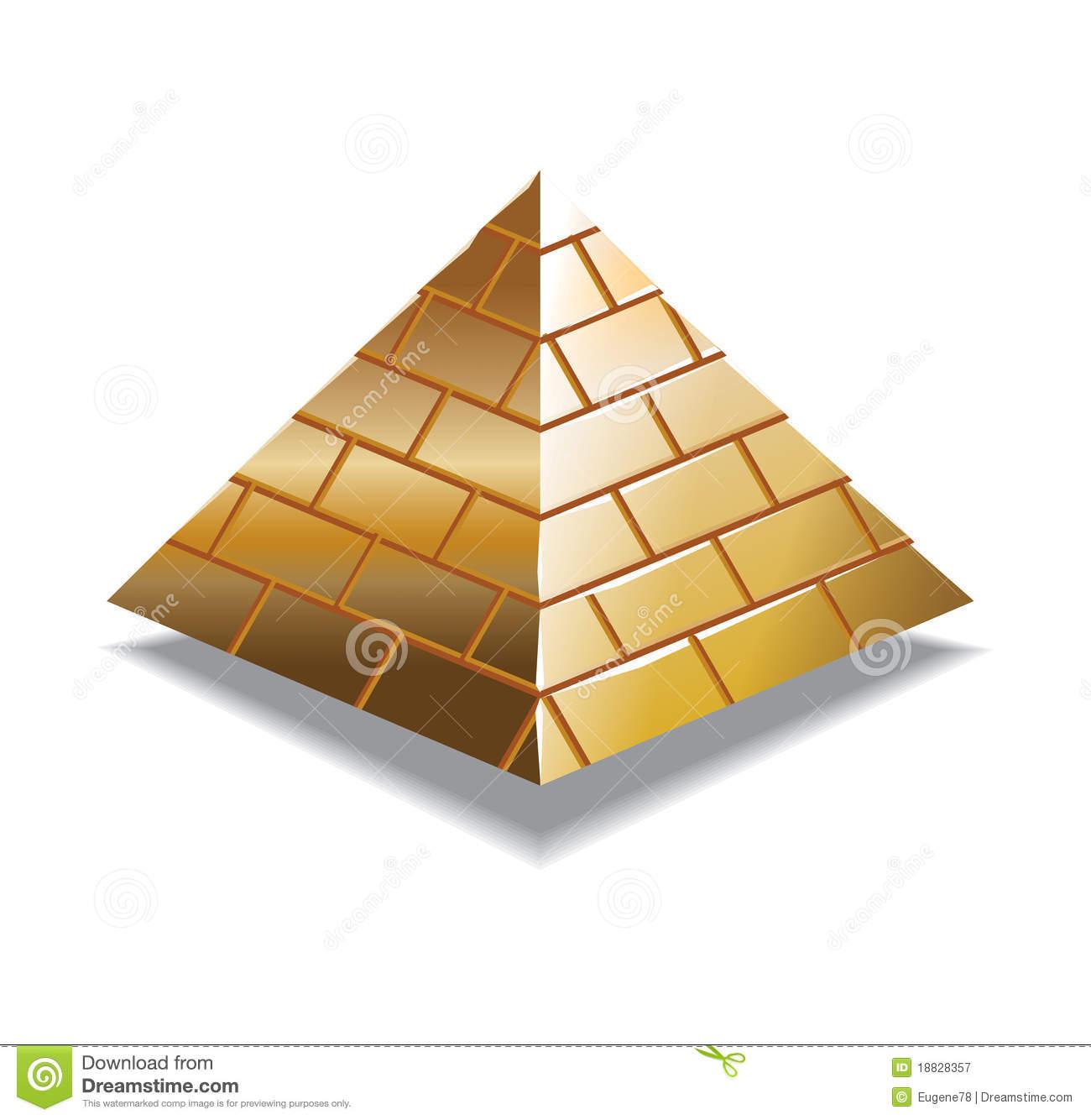 Brick clipart pyramid Art Gold Gold Pyramid –