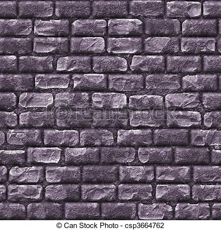 Drawn brick crack Texture Stone Seamless Background Stone