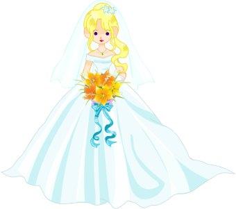 Bride clipart  Bride clip art