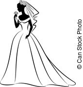 Bride clipart skinny bride In royalty of free silhouette