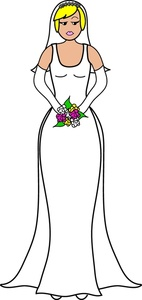 Wedding Dress clipart stand A holding beautiful Image: A