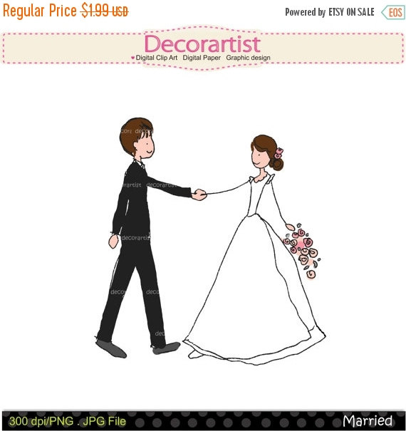 Bride clipart art  SALE clip doodle clipart