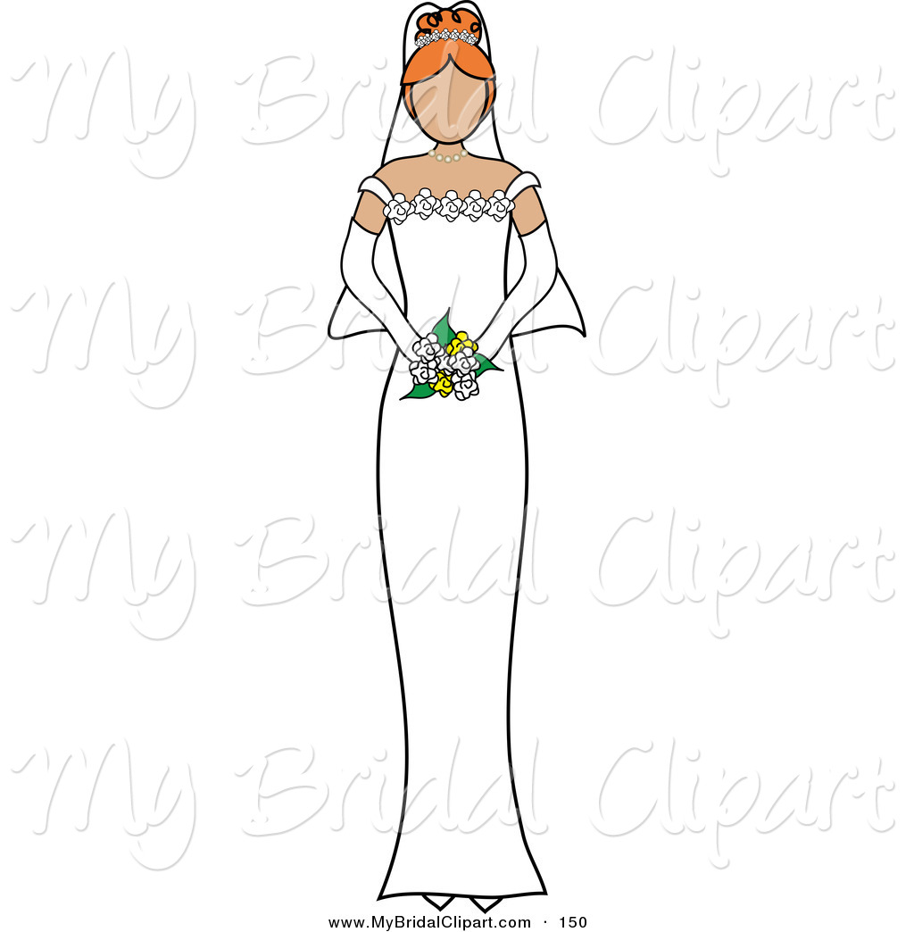 Bride clipart art Holding Bridal of Her on