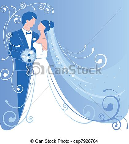 Blue clipart bride and groom Background Wedding Gentle groom wedding
