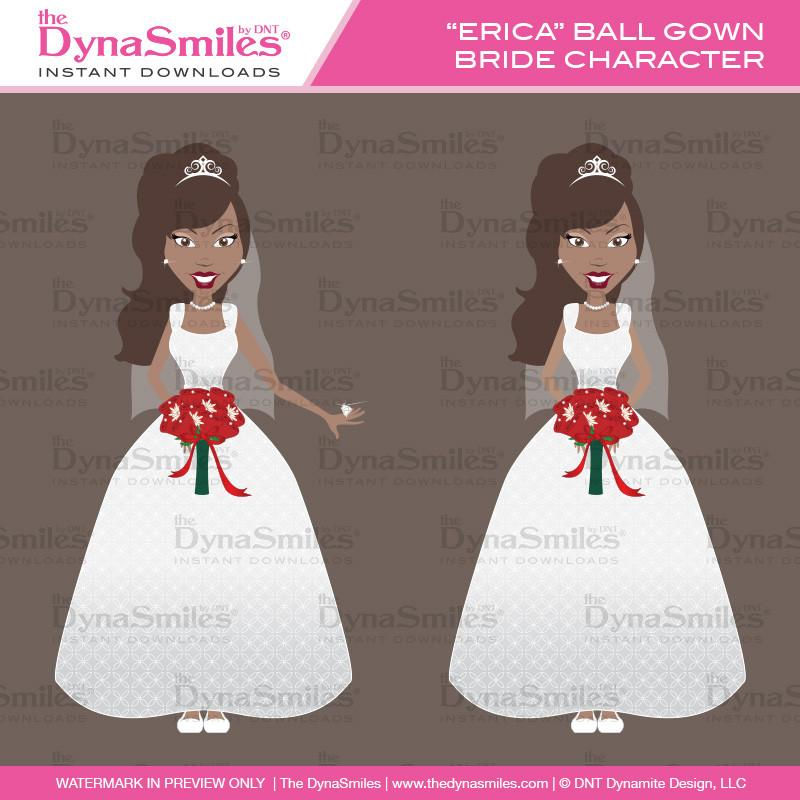 Bride clipart ball gown #9
