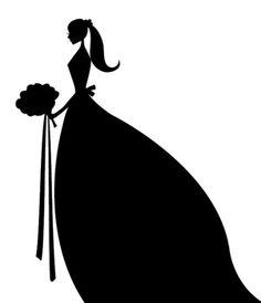 Bride clipart black and white Clipart в silhouette bride