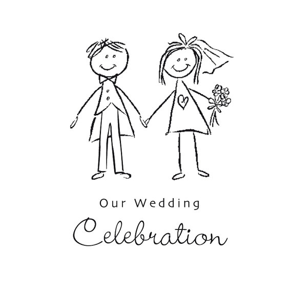 Bride clipart black and white And 2 white black and