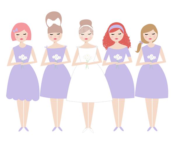 Bride clipart bride bridesmaid Bridesmaids wedding With Clipart