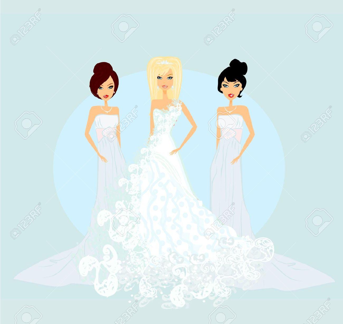 Bride clipart bride bridesmaid Bridesmaid: Free with with Images