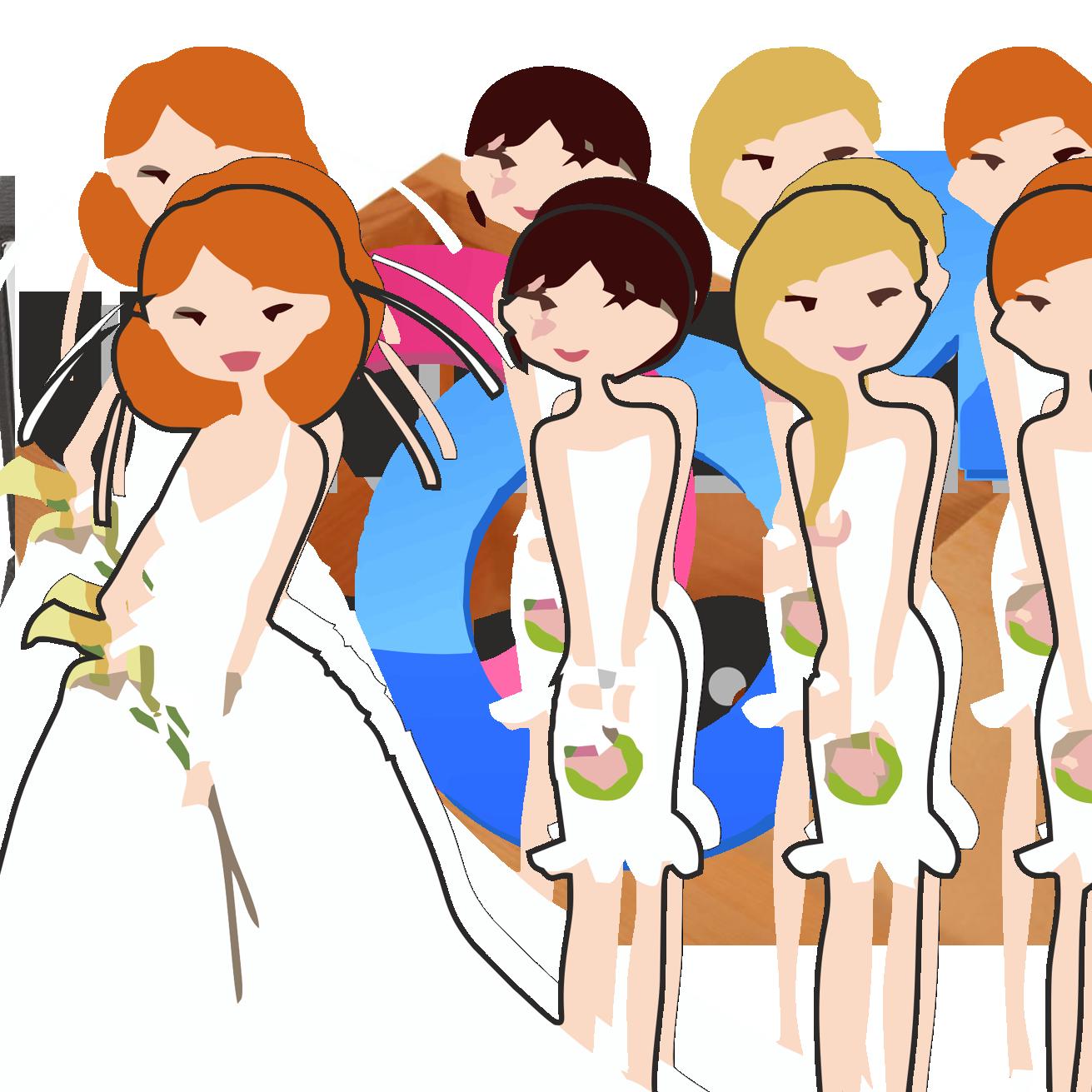 Bride clipart bride bridesmaid Panda Clipart Clipart Clipart Dress