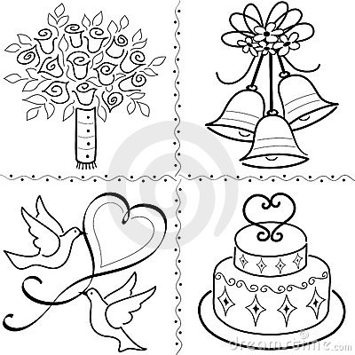 Scroll clipart gold Wedding clip Bride wedding clipart