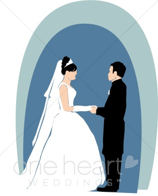 Blue clipart bride and groom Wedding Clipart Blue Clipart Wedding