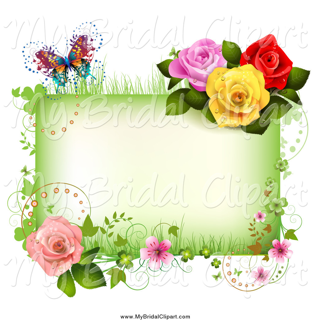 Bride clipart butterfly Wedding Stock Royalty Designs Frame
