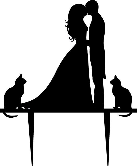 Wedding clipart cat Toppers Topper Like on best