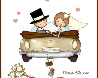 Wedding clipart just married Papers Digital and & Clipart