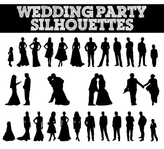 Bride clipart country wedding Bridesmaid Wedding Wedding Silhouettes Wedding