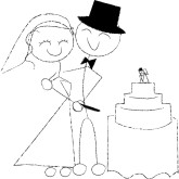 Bride clipart country wedding Couples Funny Cake Cartoon and