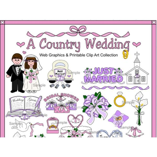 Bride clipart country wedding Resources Great Clipart: Clipart Border
