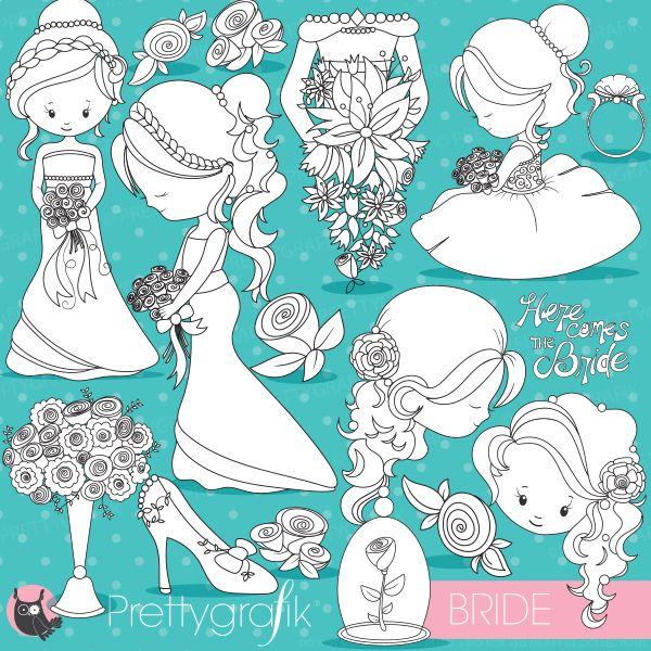 Bride clipart country wedding Best Be Pinterest digital set!