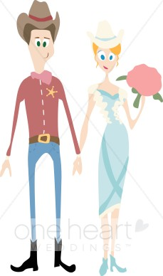 Country clipart bride and groom Clipart Couple Cartoon Country Cartoon